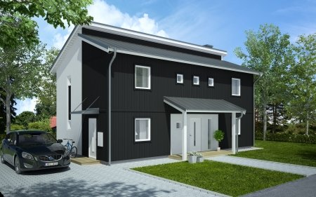Husmodellen Designhouse 150 Funkis frÃ¥n Vimmerbyhus - Hus.se : trädgård funkis : Trädgård