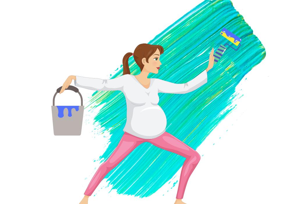 Kan man måla som gravid?