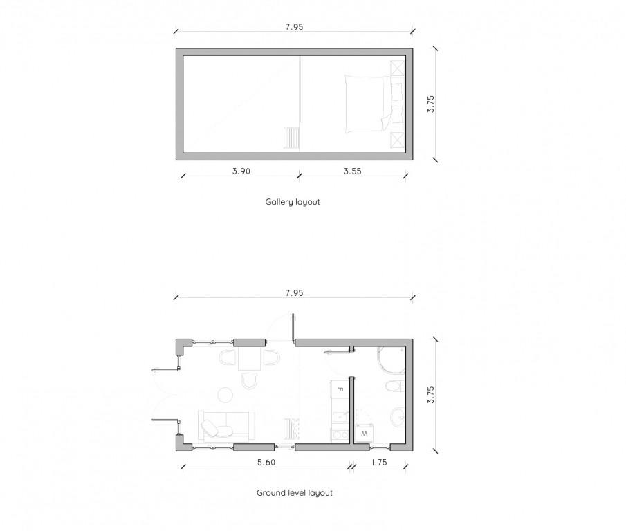 planlösning attefallshus med loft