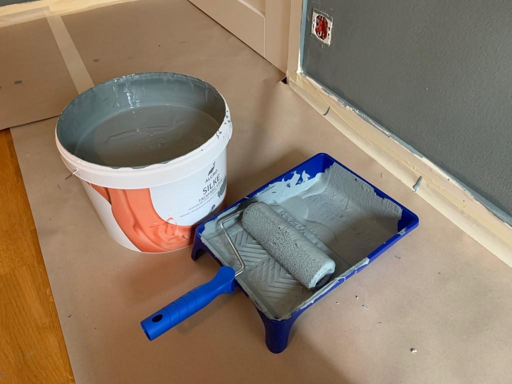Väggfärg måla inomhus